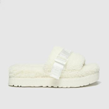 UGG white fluffita slippers