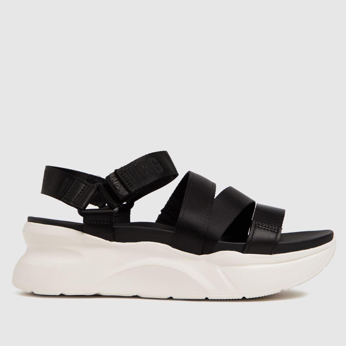 UGG Black & White La Shores Sandals