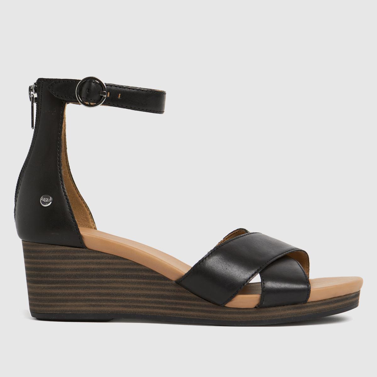 UGG Black Eugenia Sandals