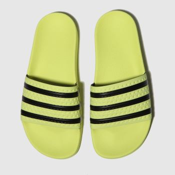 Adidas Yellow Adilette Slide Womens Sandals