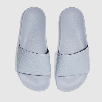 Adidas Blue Adilette Slide Womens Sandals