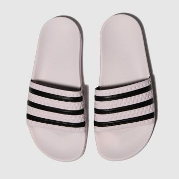 Adidas Pink & Black Adilette Slide Womens Sandals