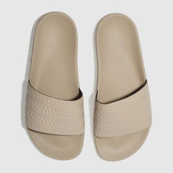 Adidas Natural Adilette Slide Womens Sandals