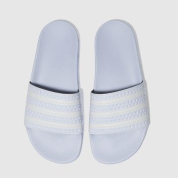 ADIDAS PALE BLUE ADILETTE SLIDE SANDALS