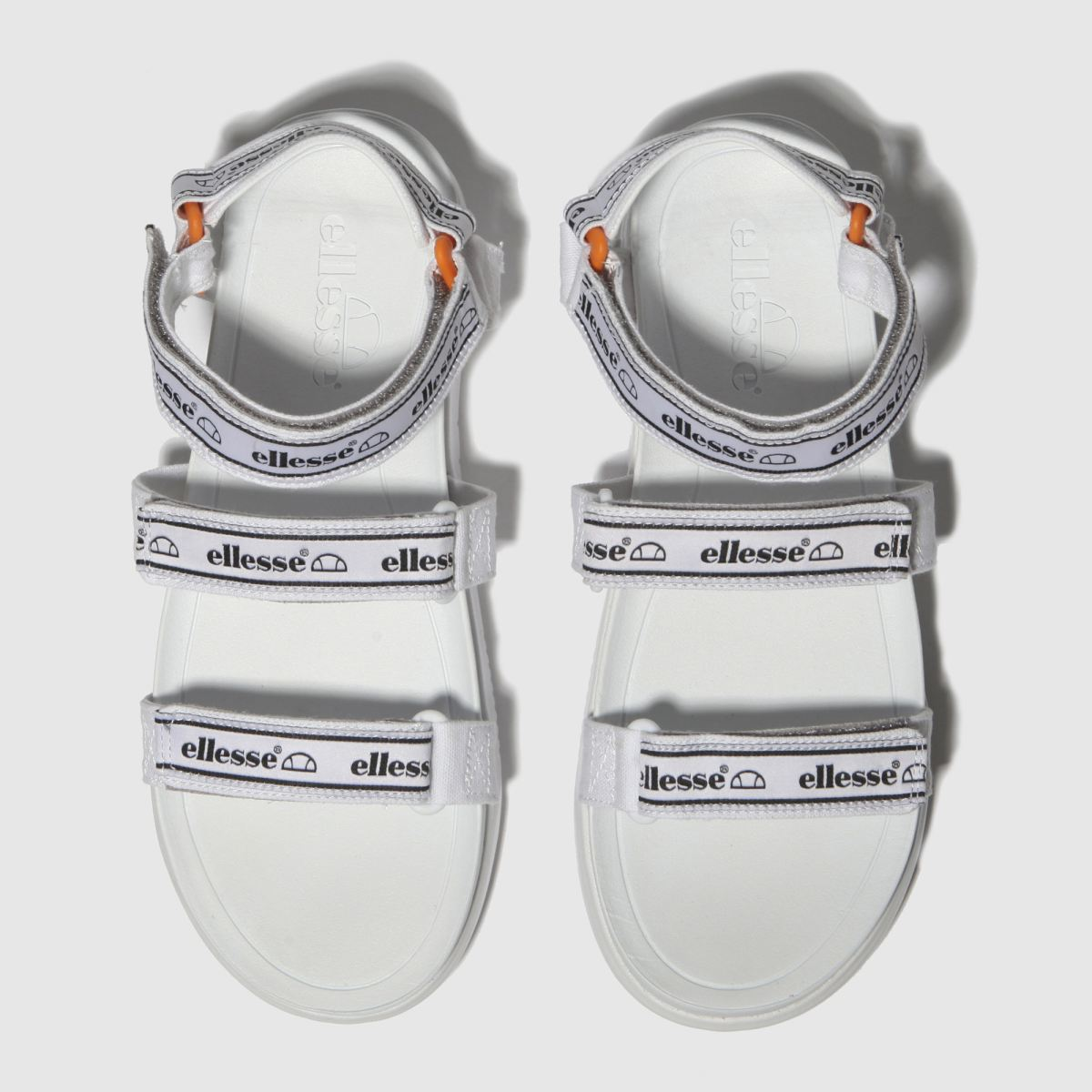 Ellesse White & Black Denso Sandals