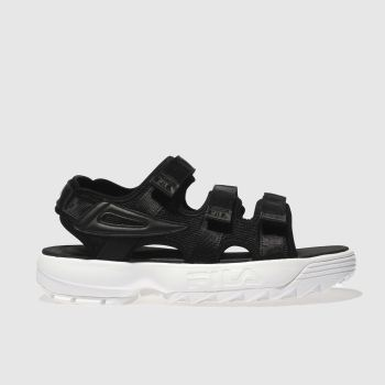 FILA BLACK & WHITE DISRUPTOR SANDALS
