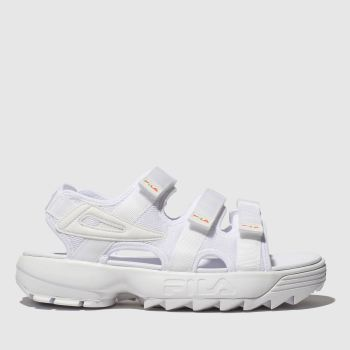 Fila White Disruptor Sandal Womens Sandals