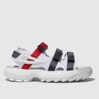 Fila White & Navy Disruptor Sandal Womens Sandals
