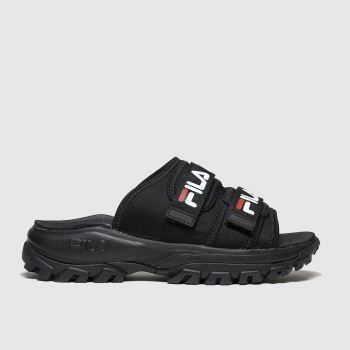 Fila Black & White Outdoor Slide Womens Sandals
