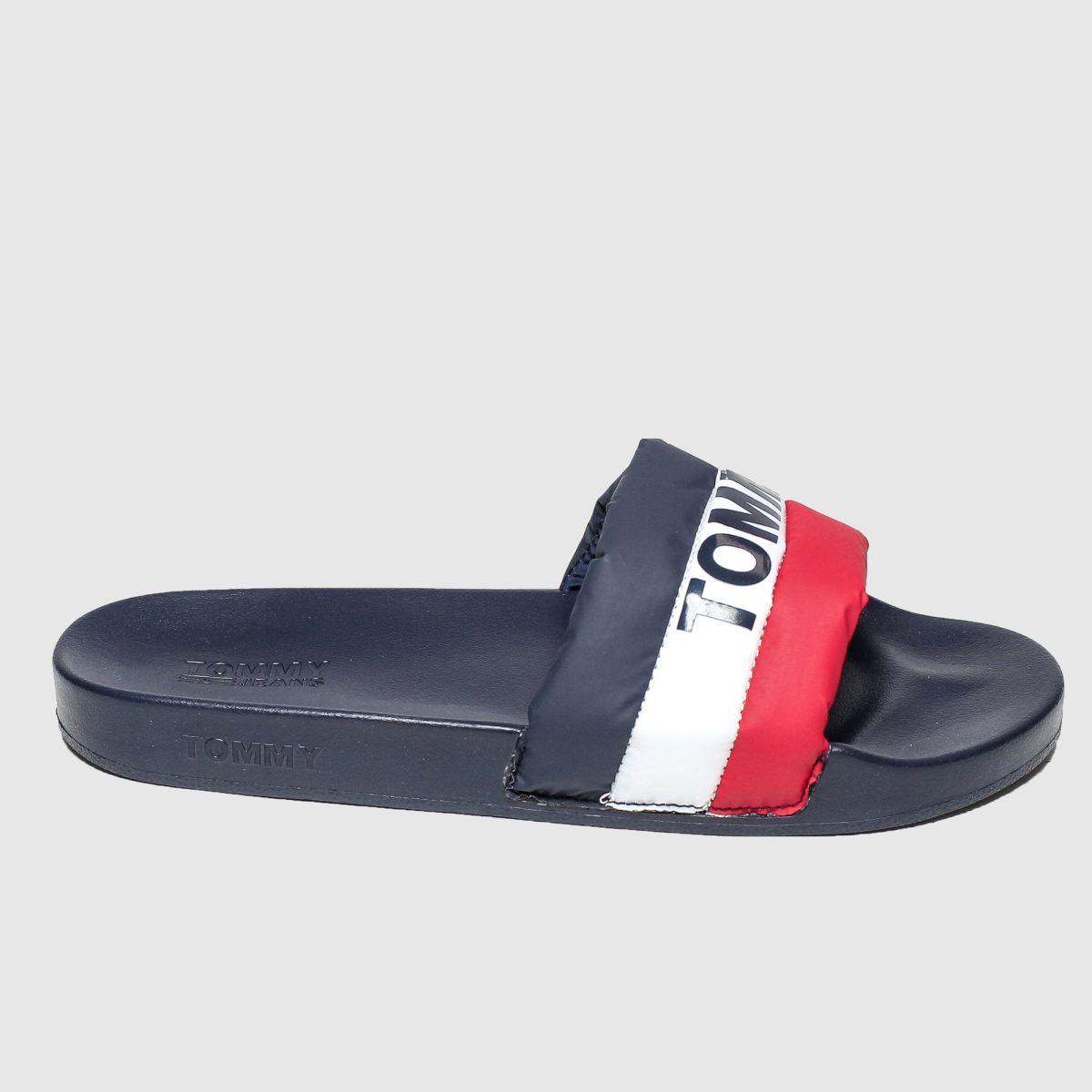 Tommy Hilfiger Navy Tj Padded Nylon Pool Slide Sandals