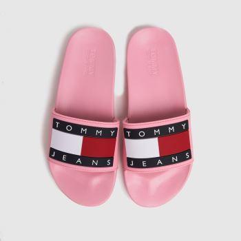 Tommy Hilfiger Pale Pink Flag Pool Slide Womens Sandals