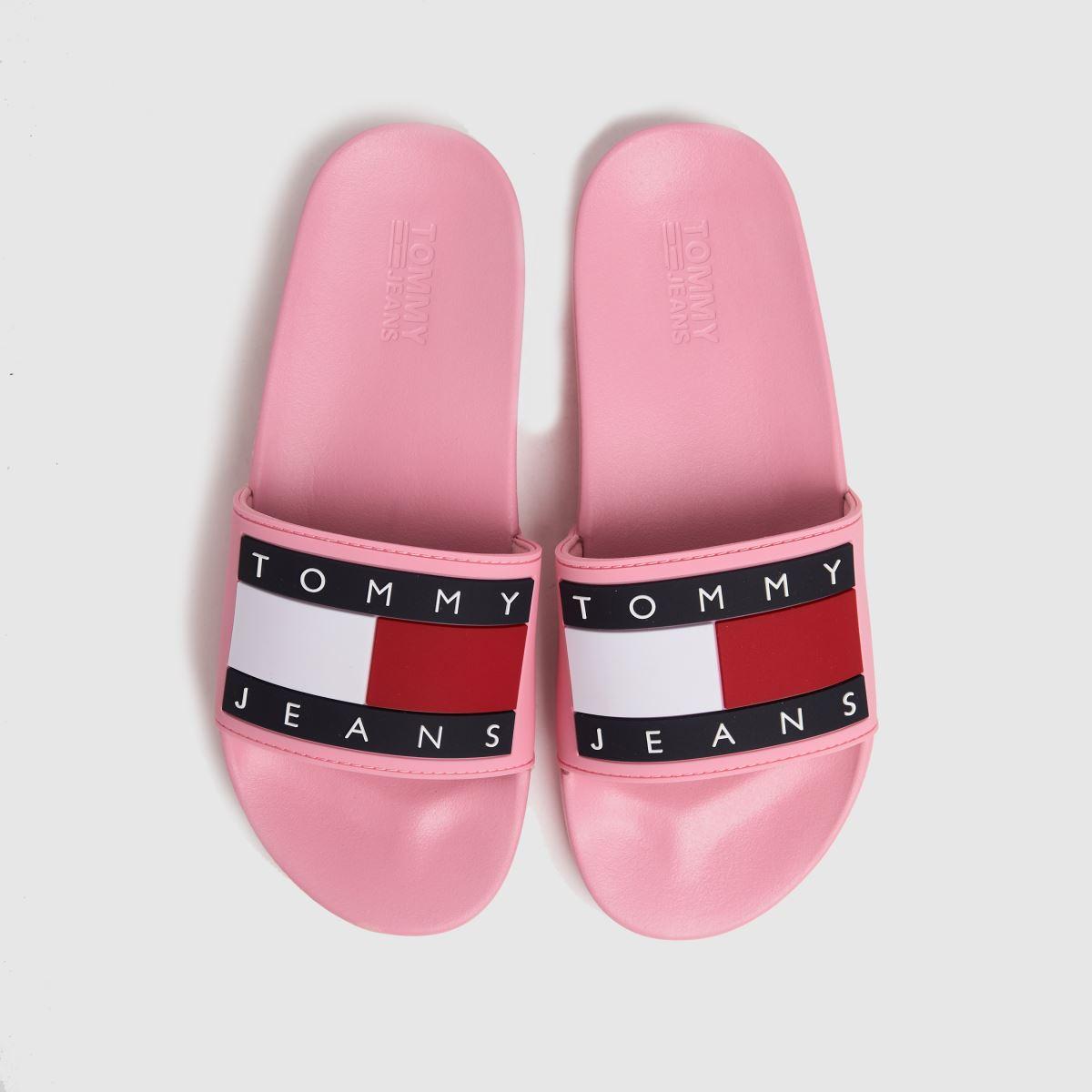 Tommy Hilfiger Pale Pink Flag Pool Slide Sandals