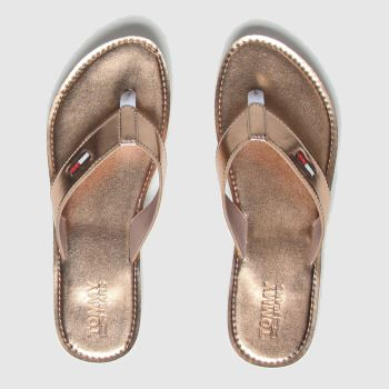 Tommy Hilfiger Bronze Metallic Beach Sandals