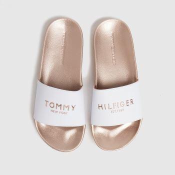 Tommy Hilfiger Bronze Metallic Pool Slide Womens Sandals