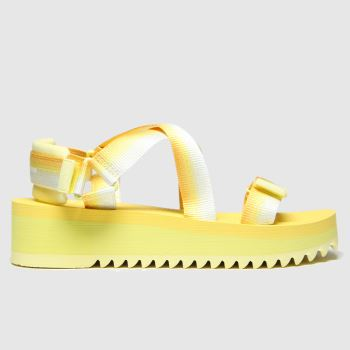 Tommy Hilfiger Yellow Tj Degrade Tape Flatform Womens Sandals