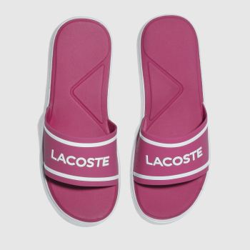 Lacoste Pink L.30 Slide Womens Sandals