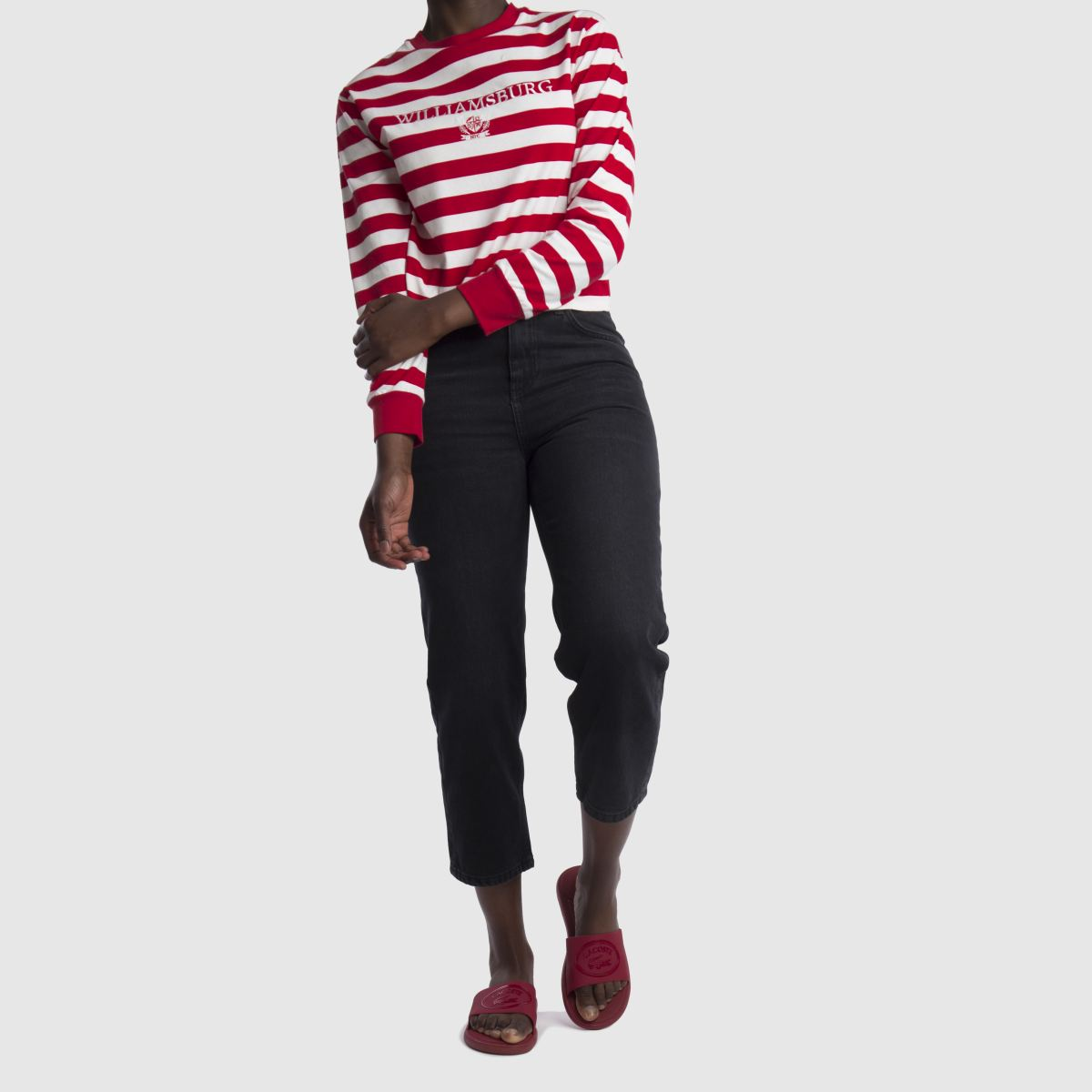 Damen Rot lacoste L.30 schuh Slide 318 Sandalen | schuh L.30 Gute Qualität beliebte Schuhe d58d63