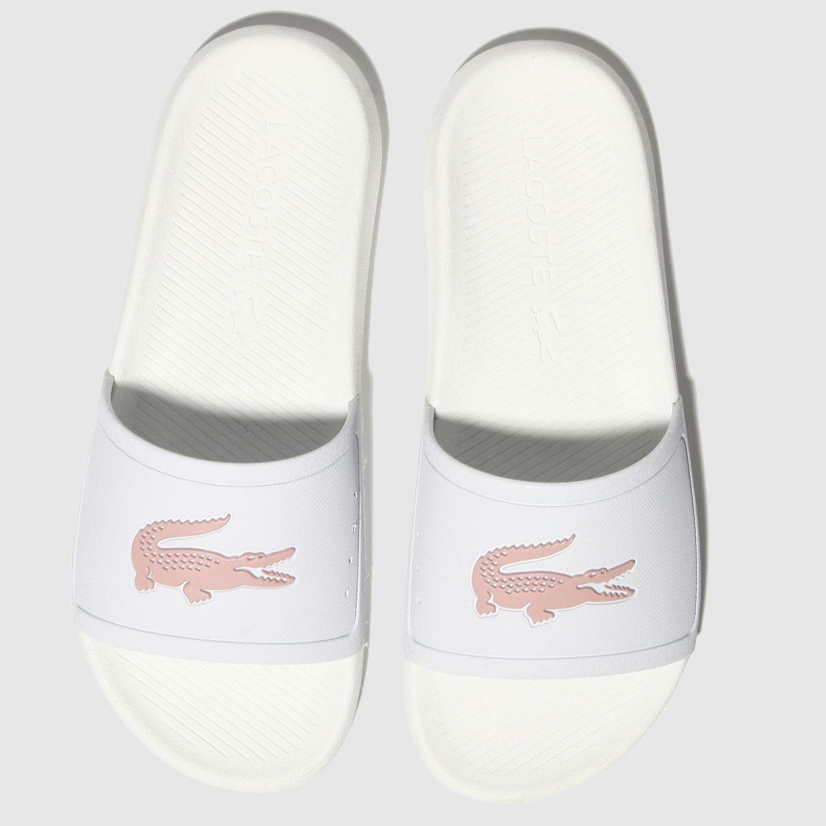 c2cb4f9b3 Lacoste White   Pink Croco Slide 119 3 Sandals