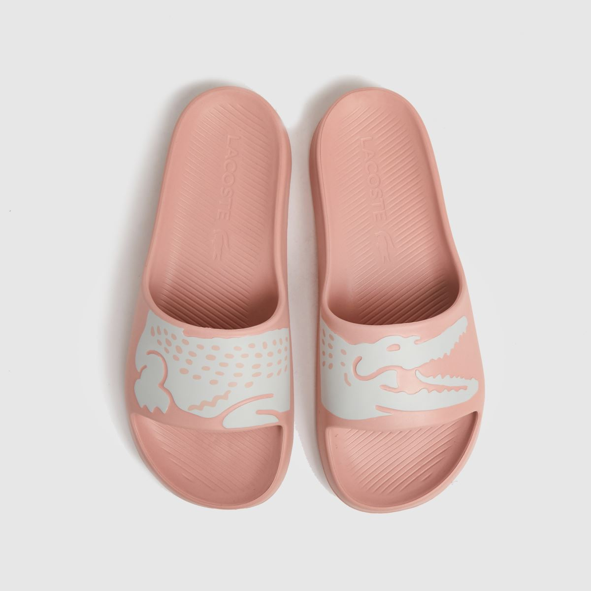 Lacoste Pale Pink Croco Slide 2.0 Sandals