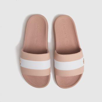 Lacoste Pale Pink Croc Slide Womens Sandals
