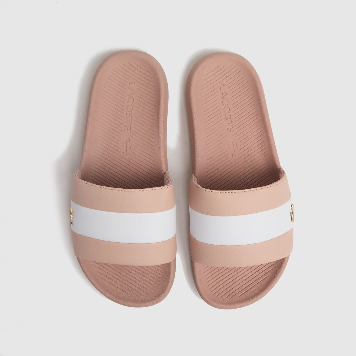 Lacoste Pale Pink Croc Slide Sandals