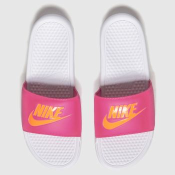 Nike Pink Benassi Slide Womens Sandals