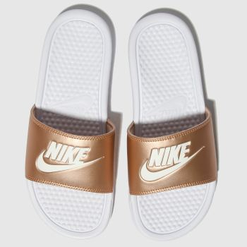 001b13a3df8c3 Nike Bronze Benassi Slider Womens Sandals