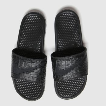 Nike Black Benassi Slide Womens Sandals