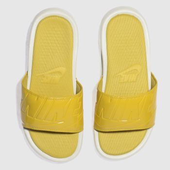 Nike Yellow Benassi Ultra Lux Womens Sandals