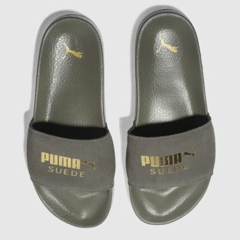 Puma Khaki Leadcat Suede Womens Sandals