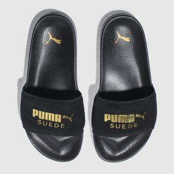 Puma Black LEADCAT SUEDE Sandals