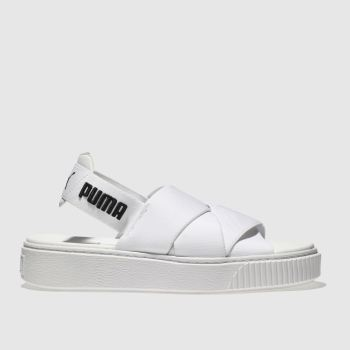 Puma White Platform Sandal Womens Sandals