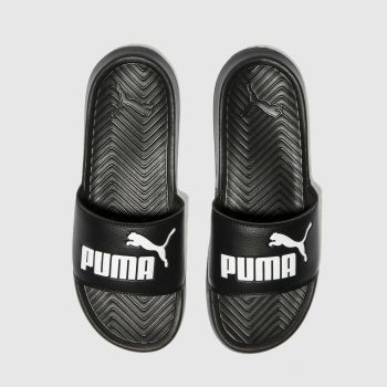 Puma Black & White Popcat Womens Sandals