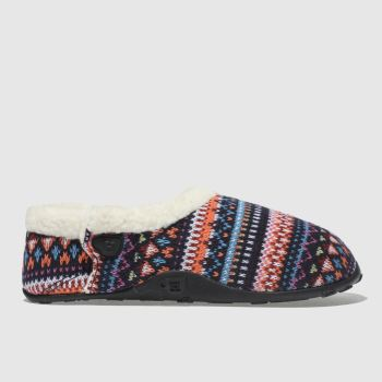 Homeys Navy & Orange Lana Womens Slippers