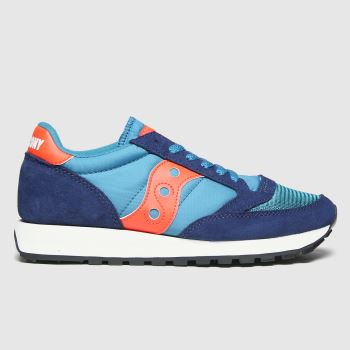 Saucony Navy & Orange Jazz Vintage Trainers