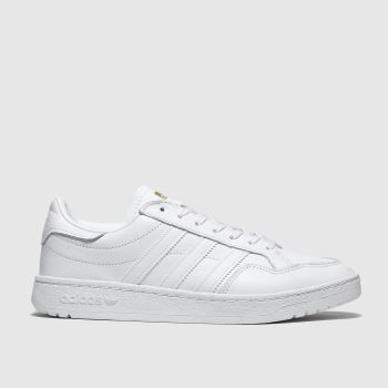 Adidas White Adi Team Court Trainers