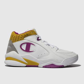 Champion White & Yellow ZONE MID Trainers