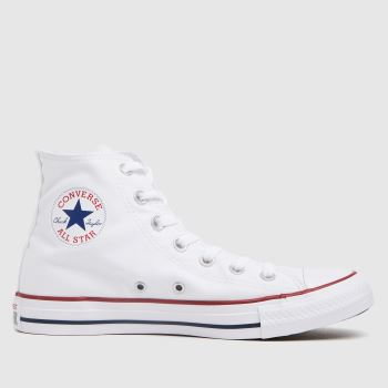 Converse White All Star Hi Womens Trainers#