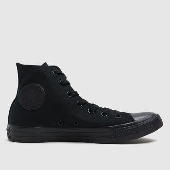 Converse Black All Star Hi Womens Trainers#