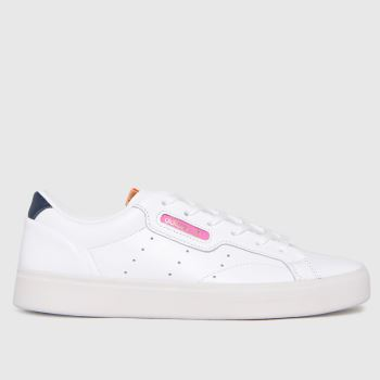 adidas White & Pink Sleek Womens Trainers