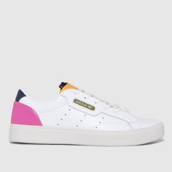 adidas White & Orange Sleek Womens Trainers