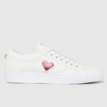 adidas White Nizza Trefoil Womens Trainers