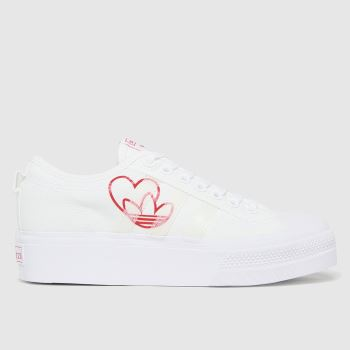 adidas White Nizza Platform Womens Trainers