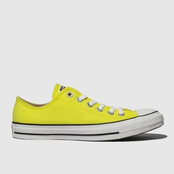 Converse Yellow ALL STAR PEACHED CANVAS OX Trainers