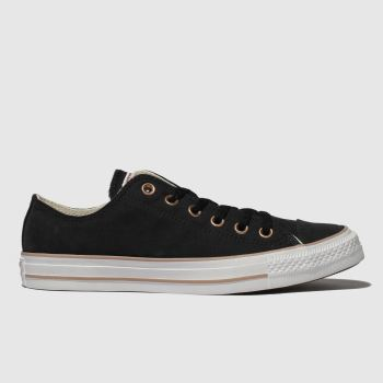 Converse Black All Star Peached Canvas Ox Womens Trainers