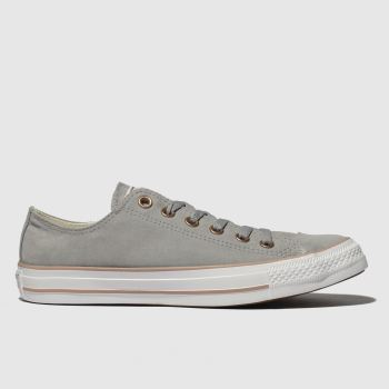 Converse Grey All Star Peached Canvas Ox Womens Trainers#