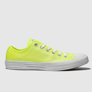 Converse Yellow All Star Glitter Ox Womens Trainers