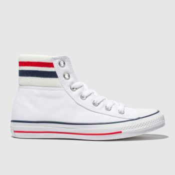 Converse White & Navy All Star 80S Cuffed Womens Trainers