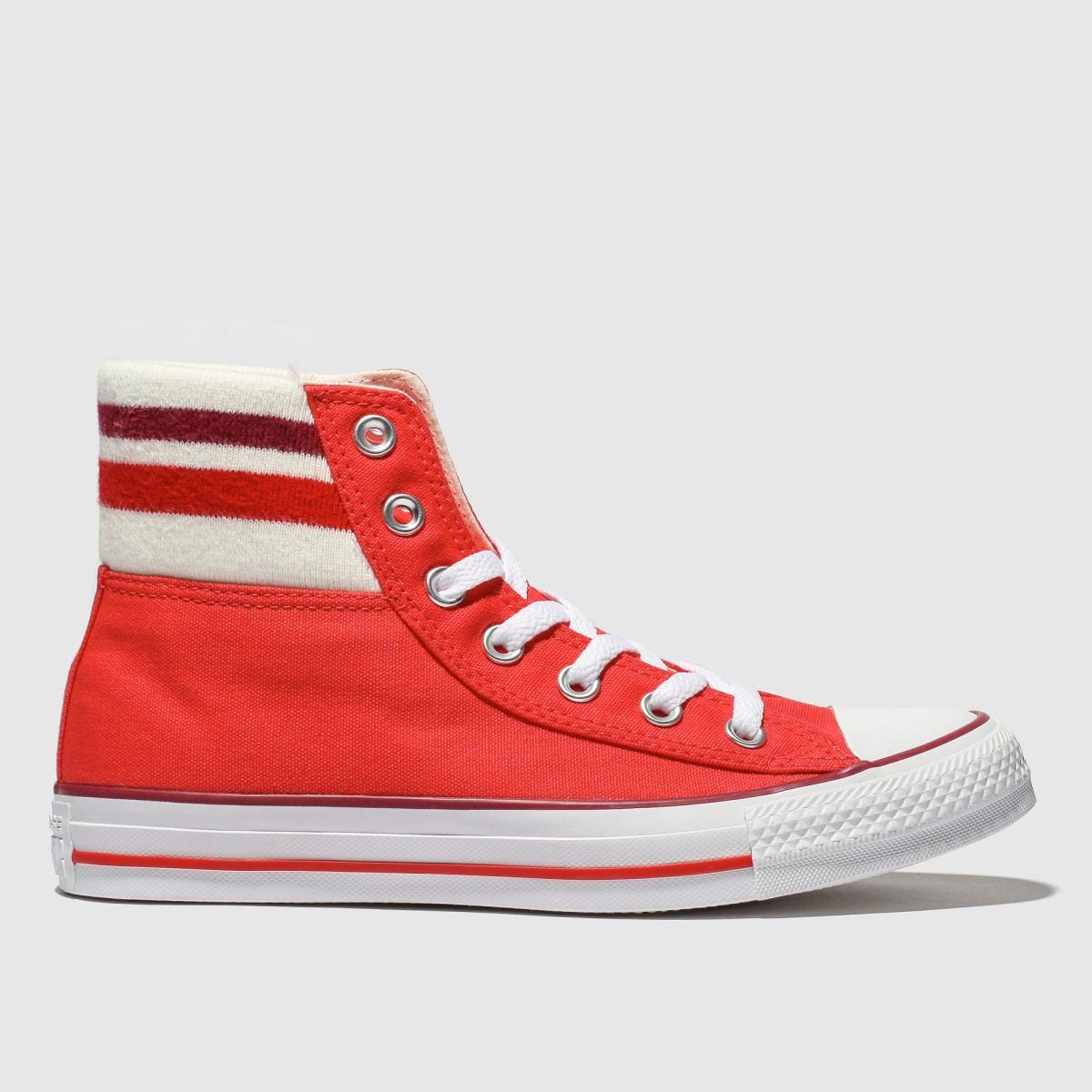 Converse Red All Star 80s Cuffed Trainers