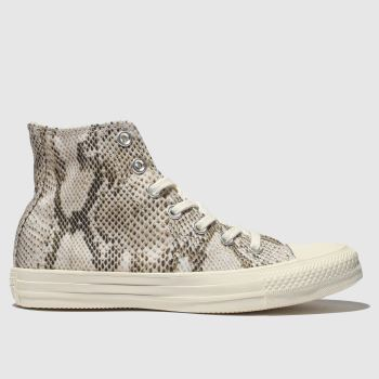 Converse Natural All Star Snake Hi Womens Trainers